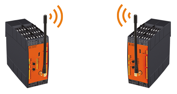 Radio controlled safety system - Pair mode
